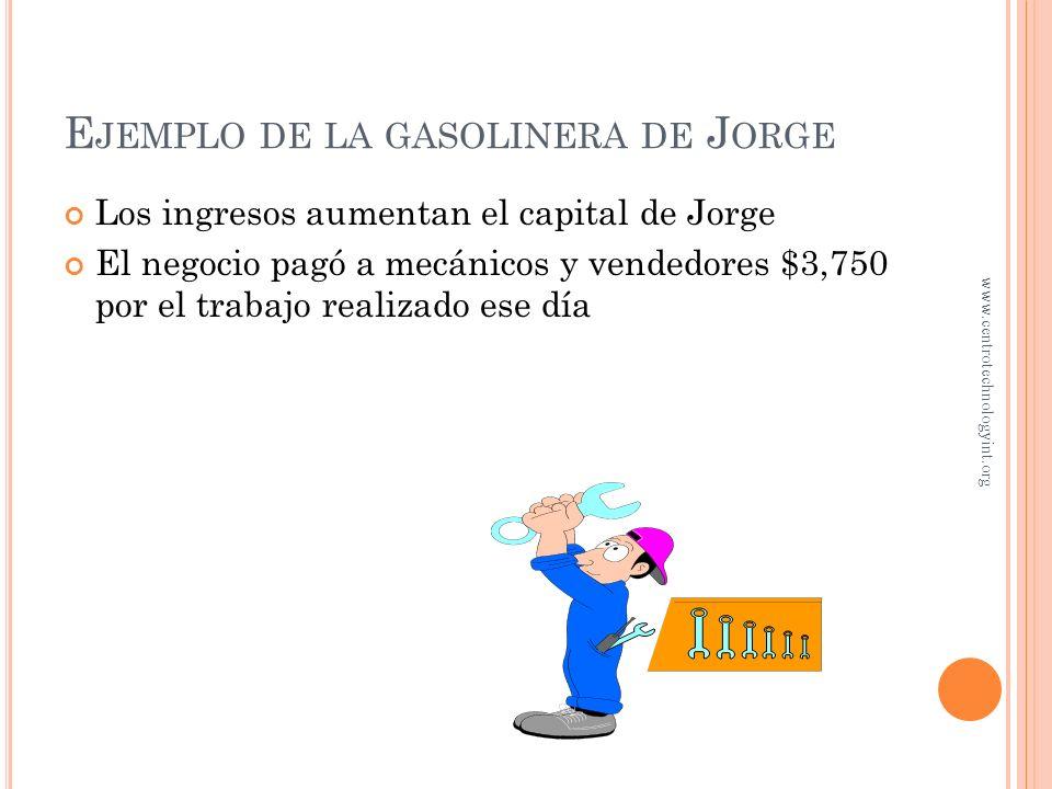 Ejemplo de la gasolinera de Jorge