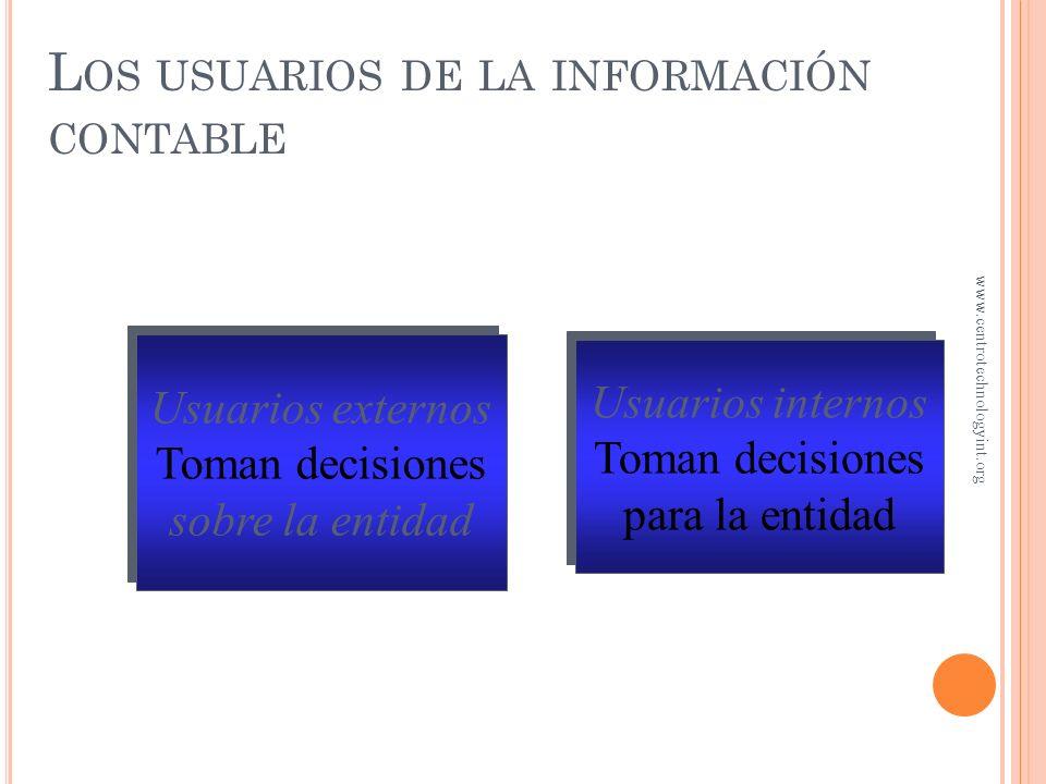 Los usuarios de la información contable