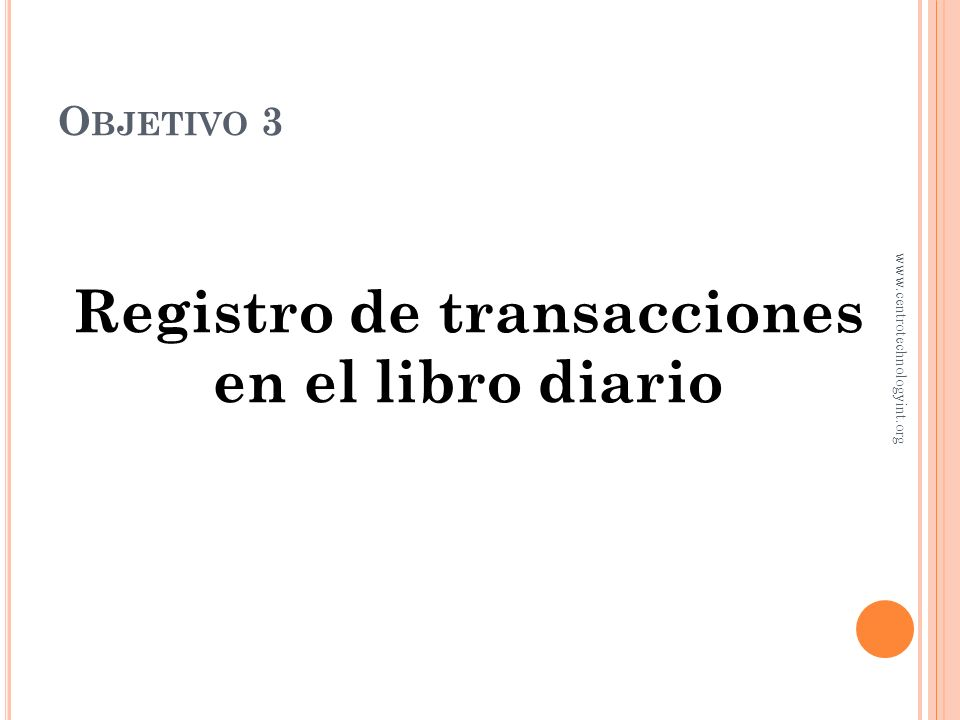 Registro de transacciones