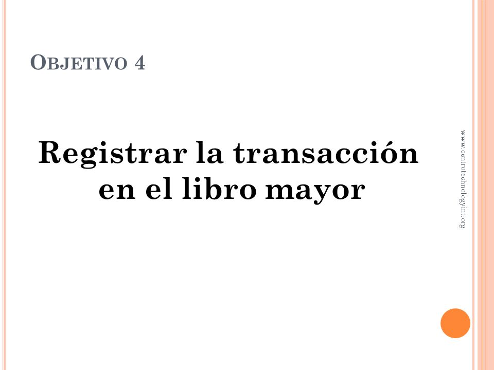 Registrar la transacción