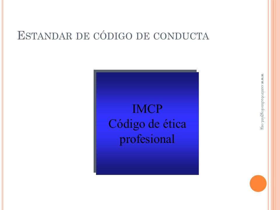 Estandar de código de conducta