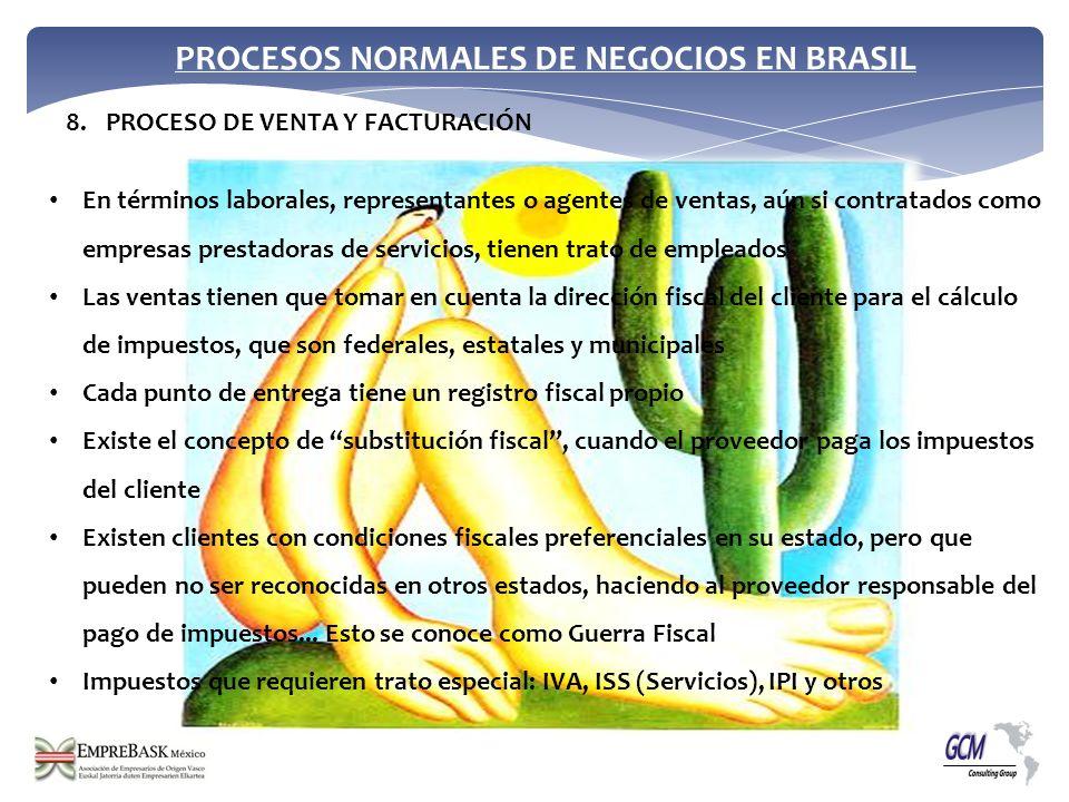 PROCESOS NORMALES DE NEGOCIOS EN BRASIL