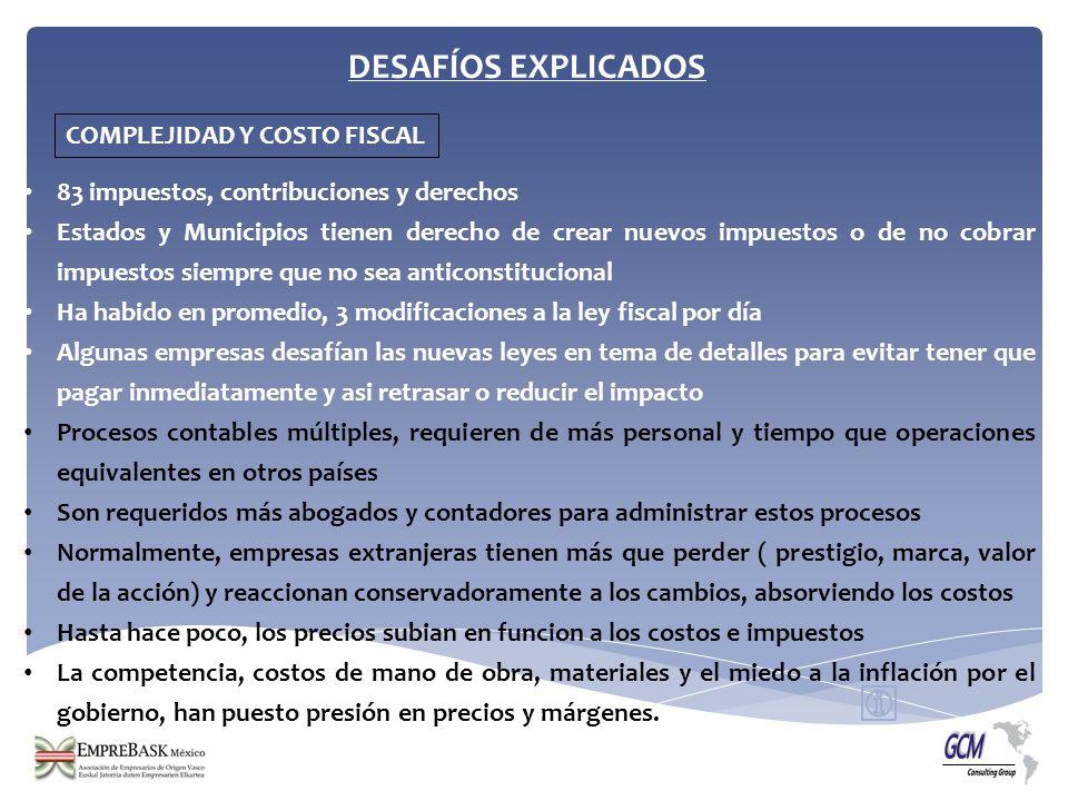 DESAFÍOS EXPLICADOS COMPLEJIDAD Y COSTO FISCAL
