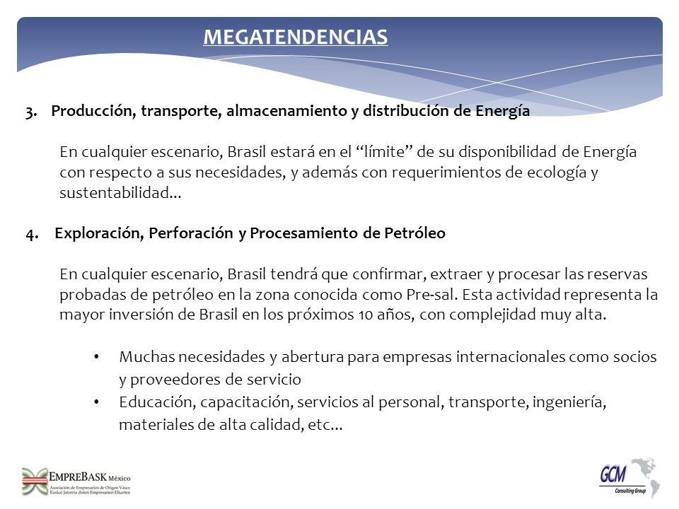 MEGATENDENCIAS Producción, transporte, almacenamiento y distribución de Energía.