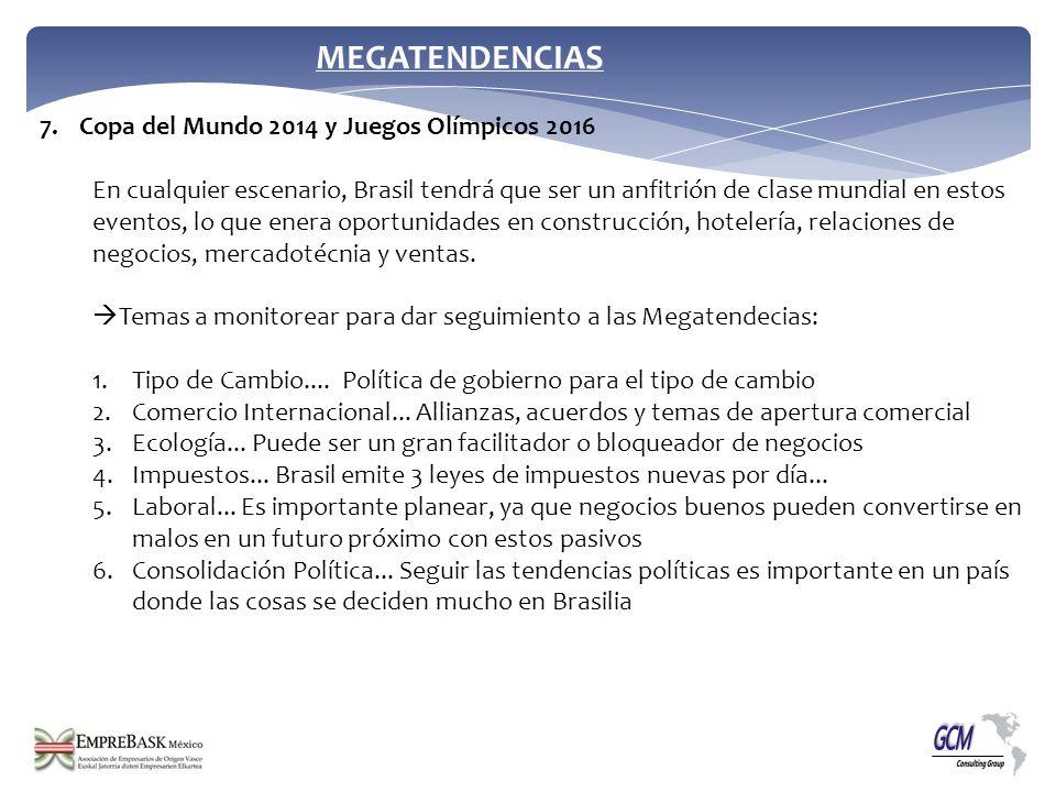 MEGATENDENCIAS Copa del Mundo 2014 y Juegos Olímpicos 2016