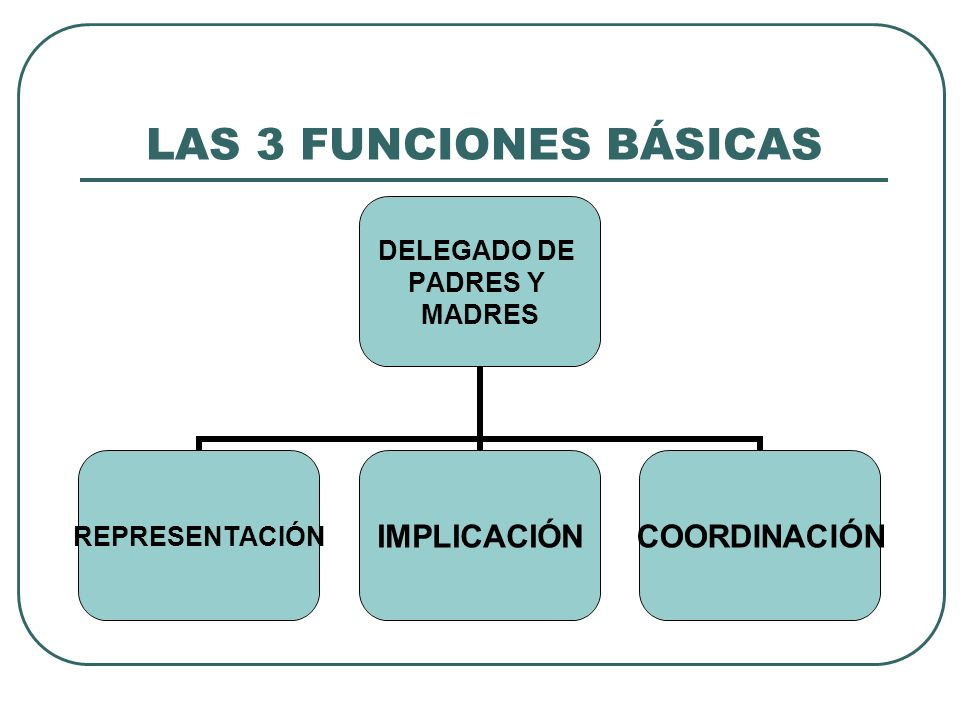 LAS 3 FUNCIONES BÁSICAS