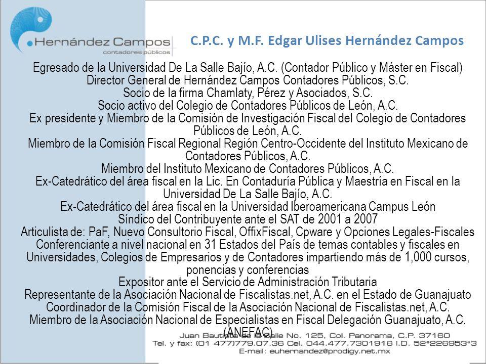C.P.C. y M.F. Edgar Ulises Hernández Campos