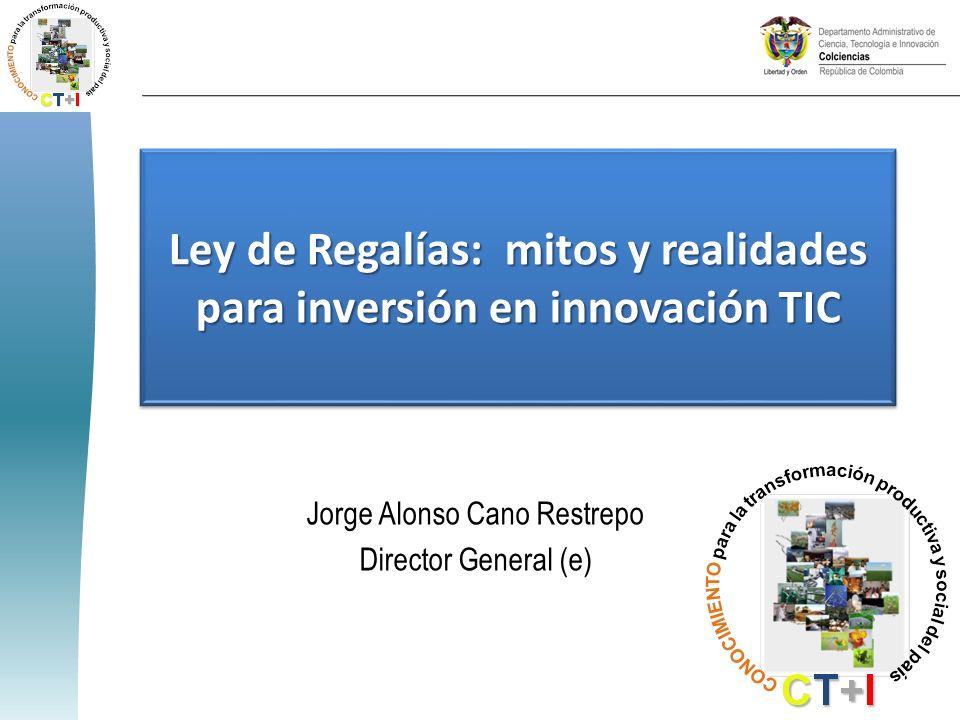 Ley de Regalías: mitos y realidades para inversión en innovación TIC