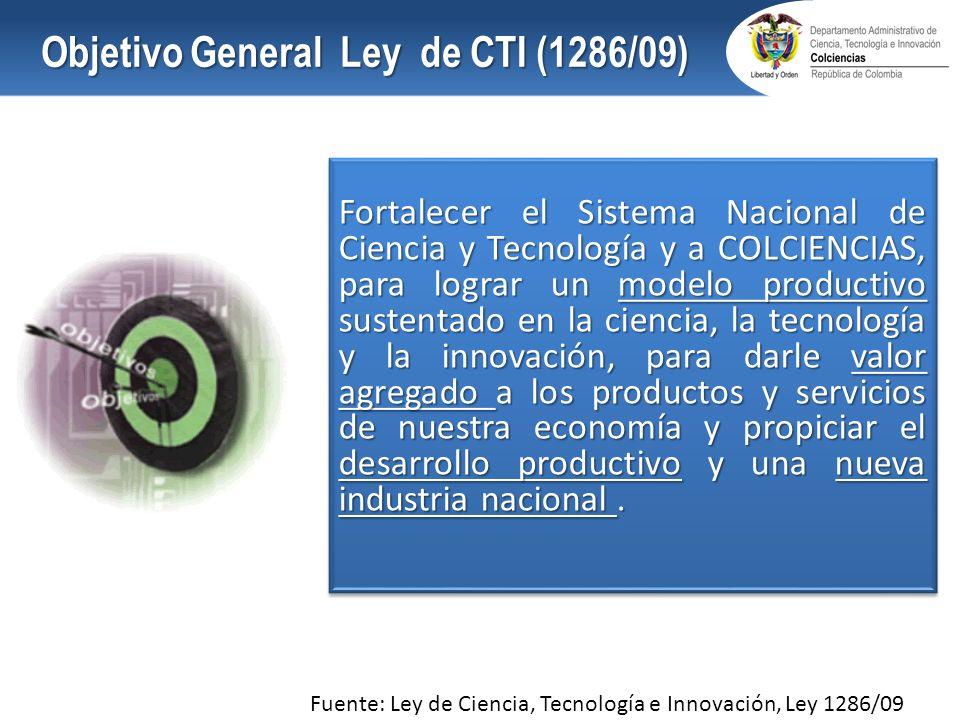 Objetivo General Ley de CTI (1286/09)