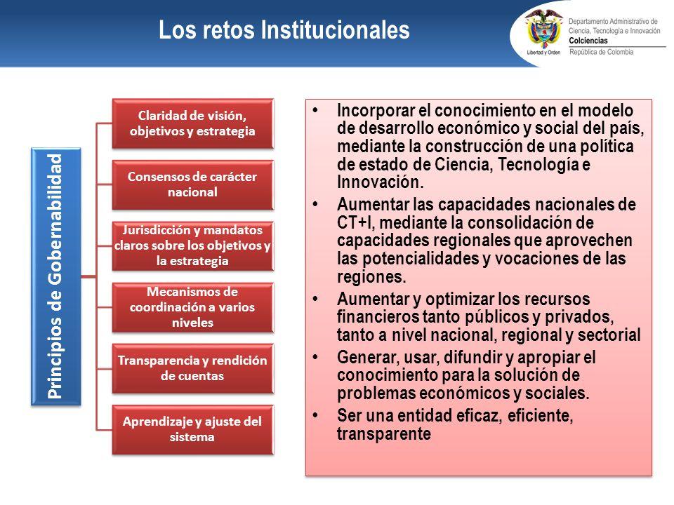 Los retos Institucionales