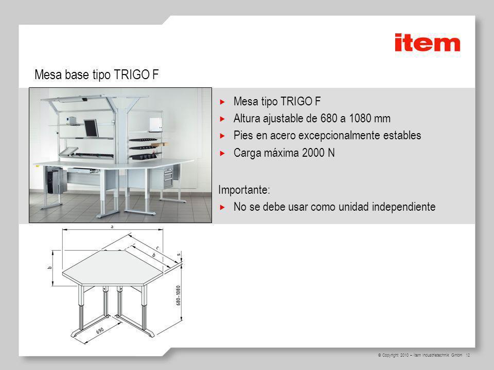 Mesa base tipo TRIGO F Mesa tipo TRIGO F