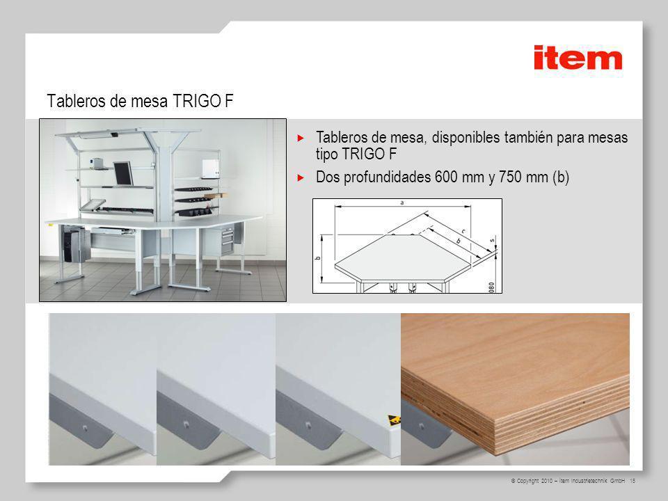 Tableros de mesa TRIGO F