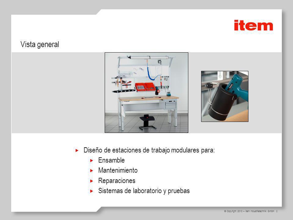 Vista general Diseño de estaciones de trabajo modulares para: Ensamble