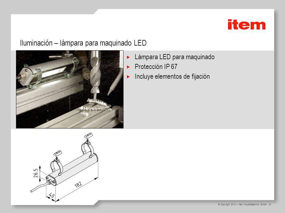 Iluminación – lámpara para maquinado LED