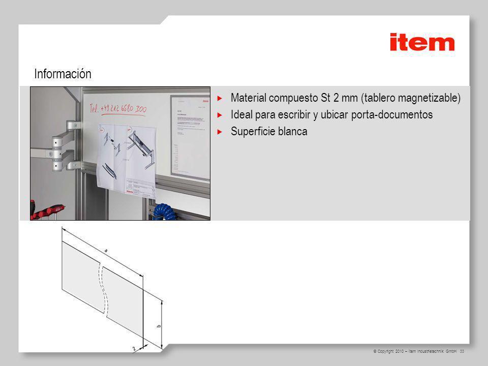 Información Material compuesto St 2 mm (tablero magnetizable)