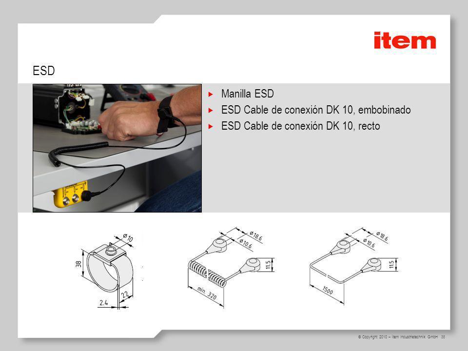 ESD Manilla ESD ESD Cable de conexión DK 10, embobinado