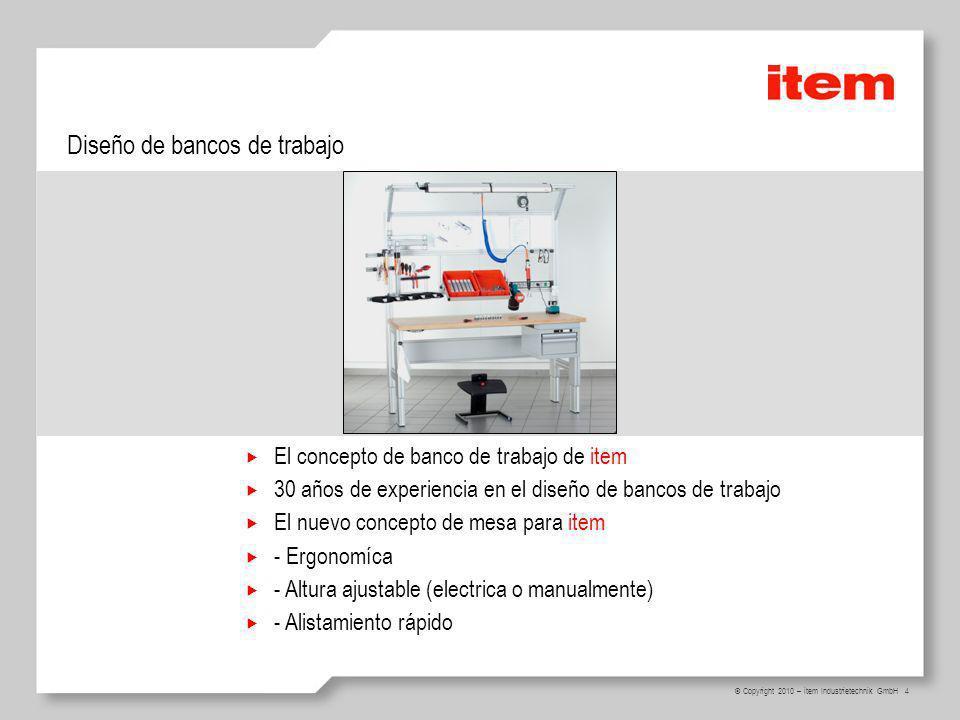 Diseño de bancos de trabajo