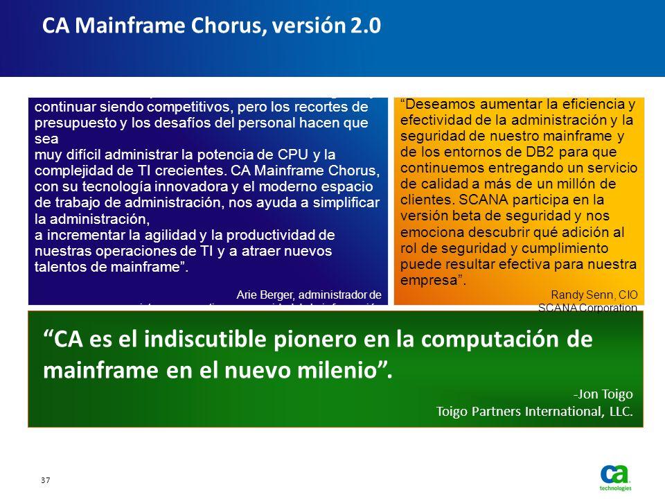 CA Mainframe Chorus, versión 2.0