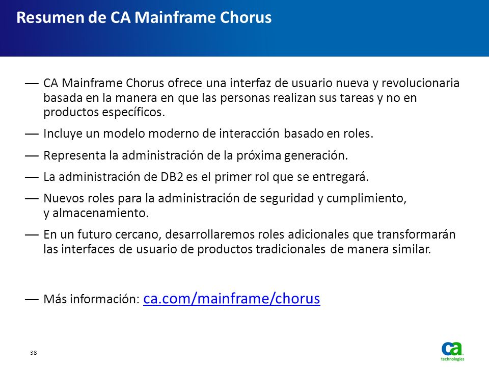 Resumen de CA Mainframe Chorus