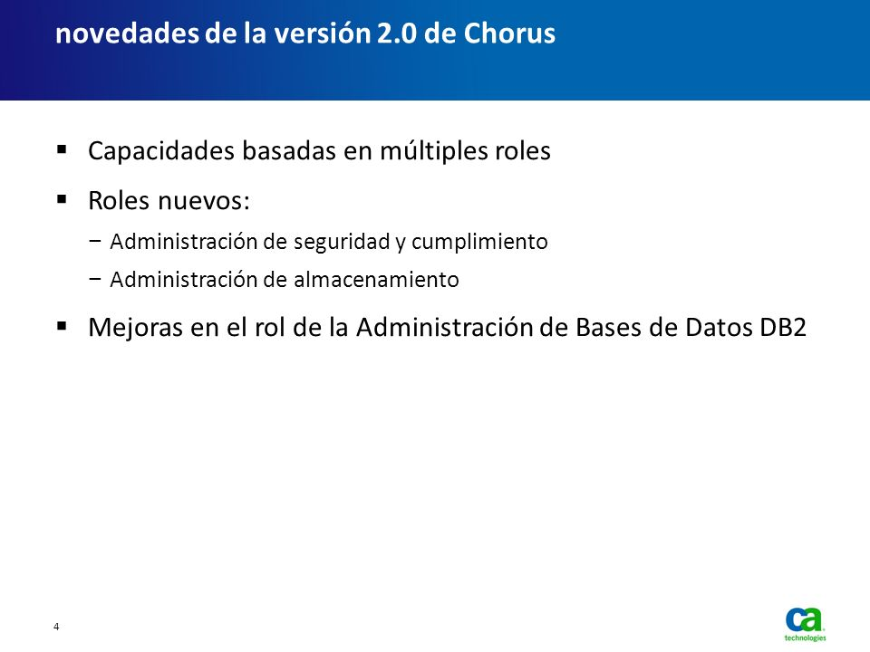 novedades de la versión 2.0 de Chorus