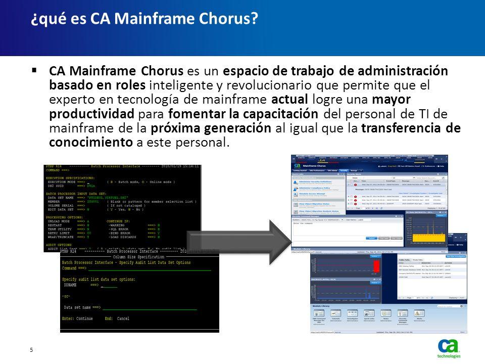 ¿qué es CA Mainframe Chorus