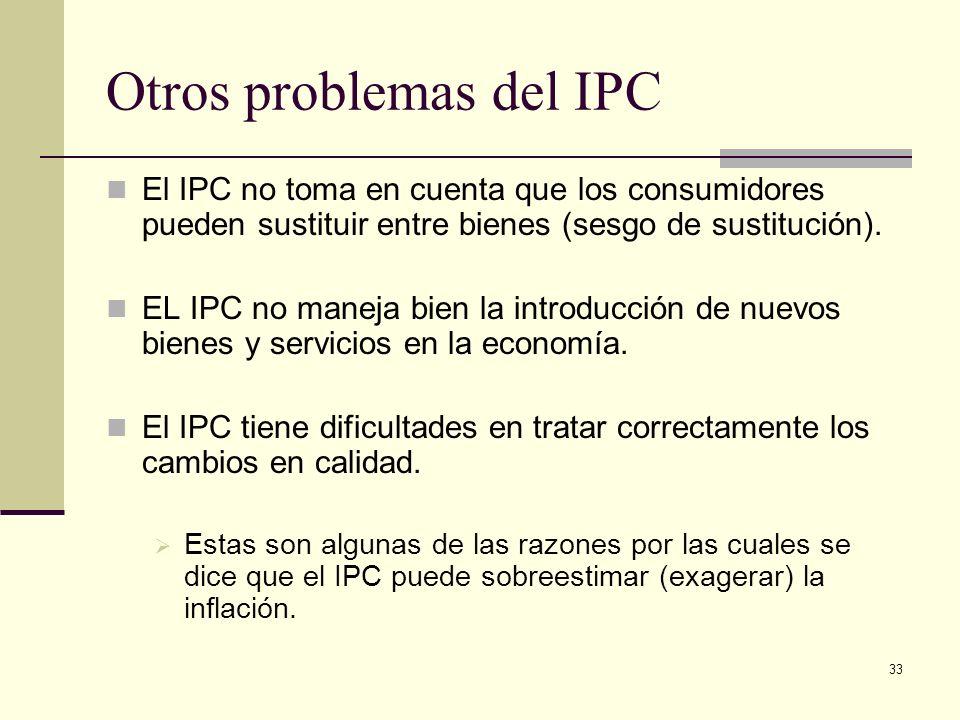 Otros problemas del IPC