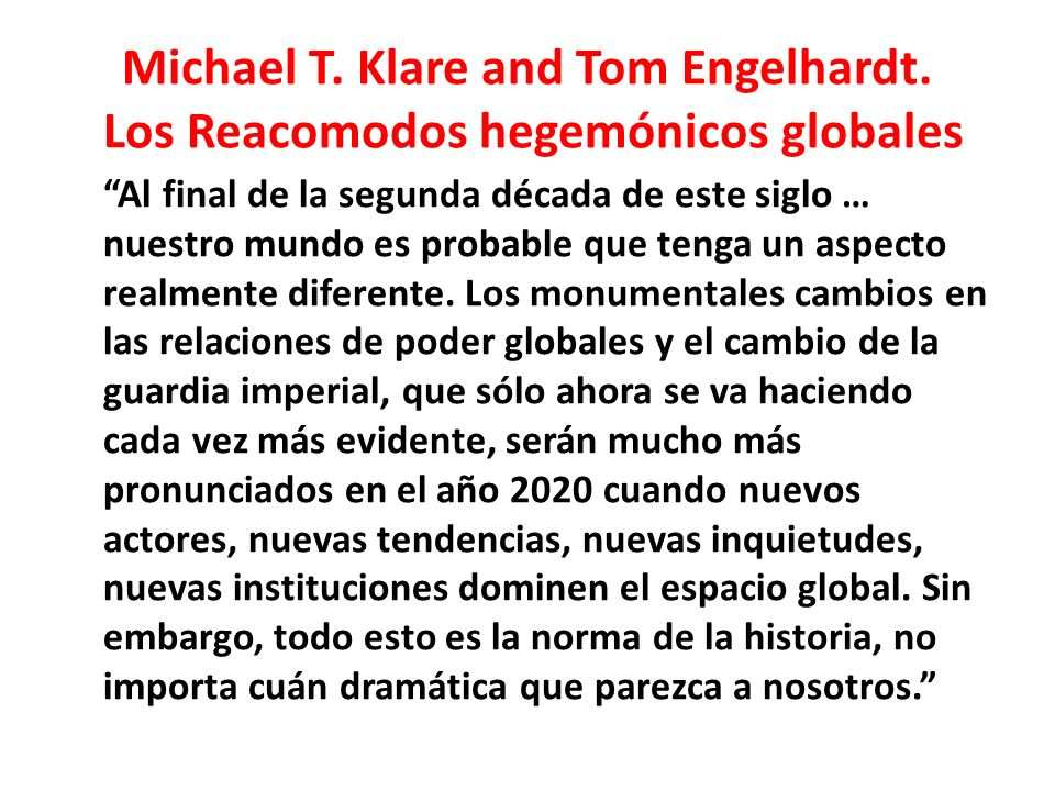 Michael T. Klare and Tom Engelhardt