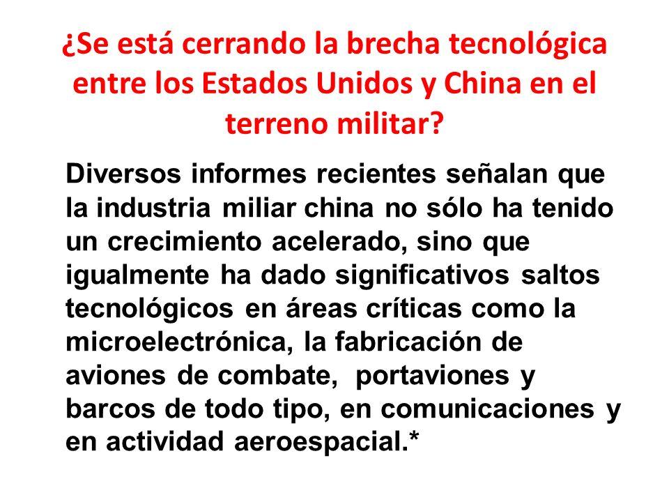 ¿Se está cerrando la brecha tecnológica entre los Estados Unidos y China en el terreno militar