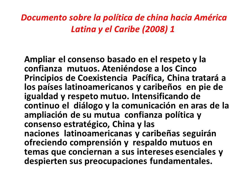 Documento sobre la política de china hacia América Latina y el Caribe (2008) 1