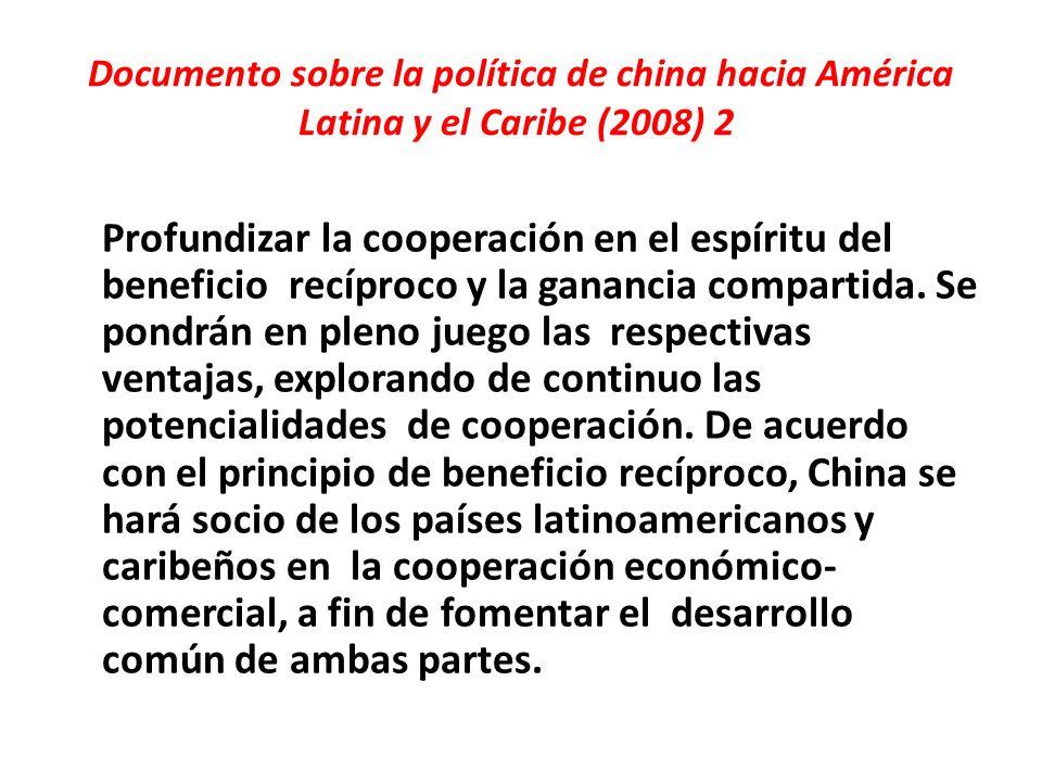 Documento sobre la política de china hacia América Latina y el Caribe (2008) 2