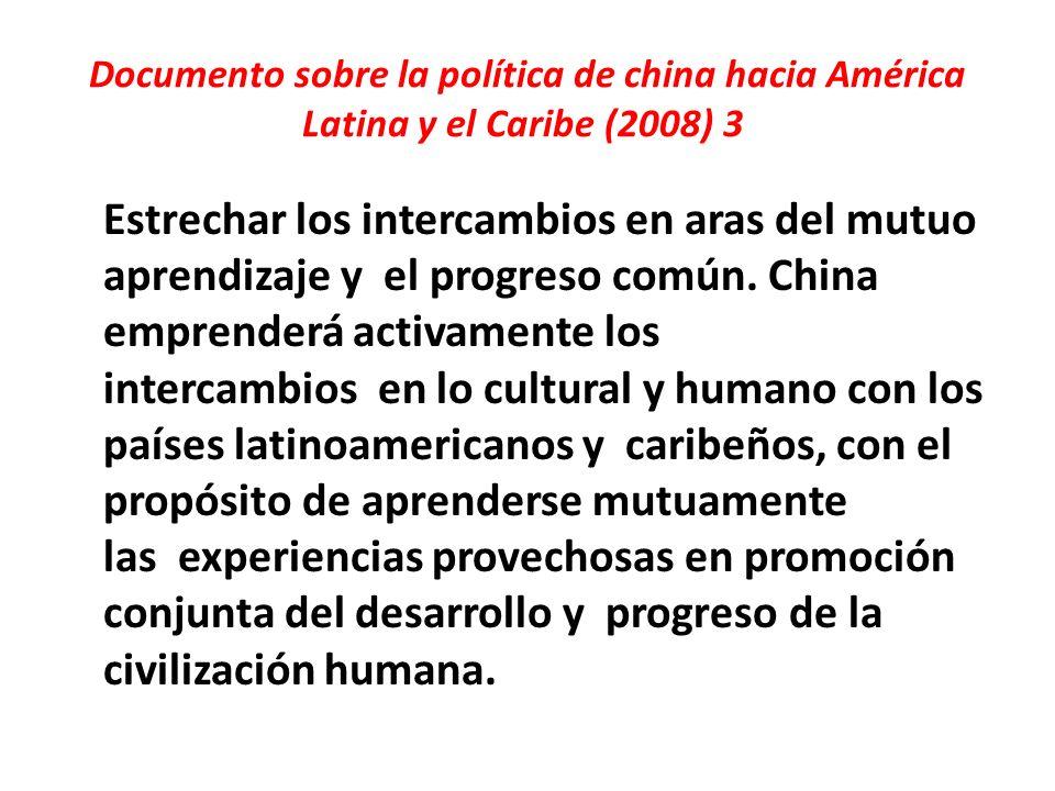 Documento sobre la política de china hacia América Latina y el Caribe (2008) 3