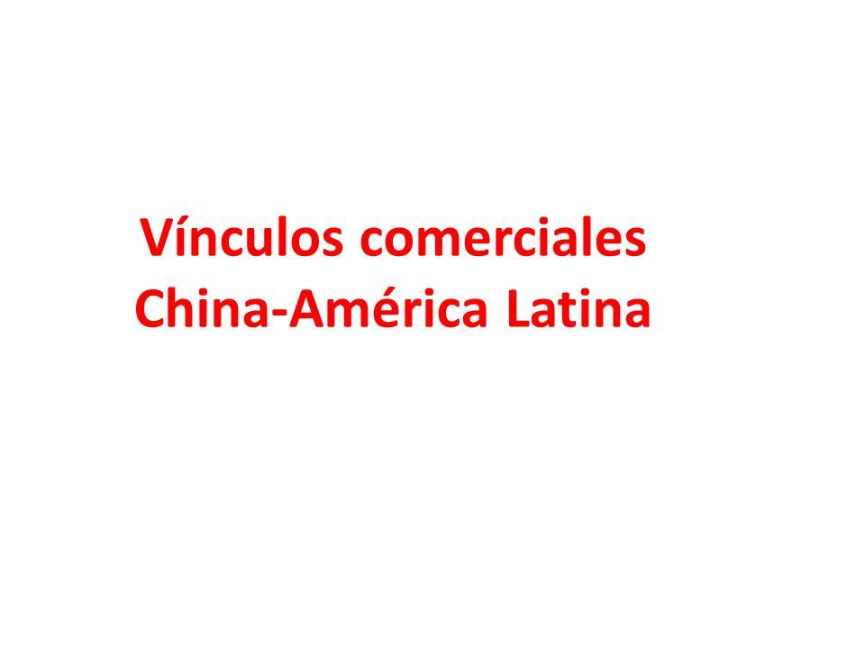 Vínculos comerciales China-América Latina