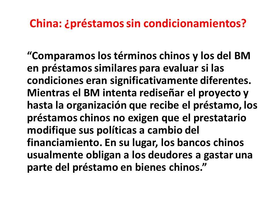 China: ¿préstamos sin condicionamientos