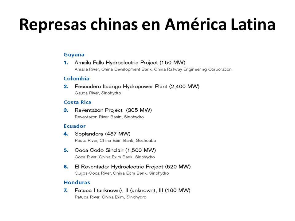 Represas chinas en América Latina