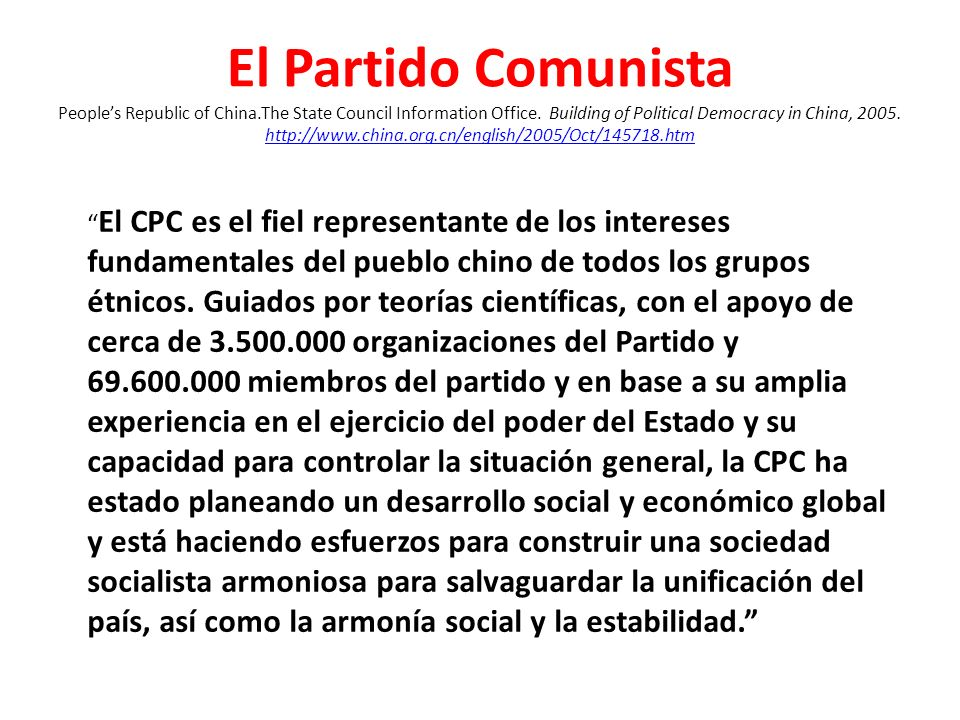 El Partido Comunista People's Republic of China