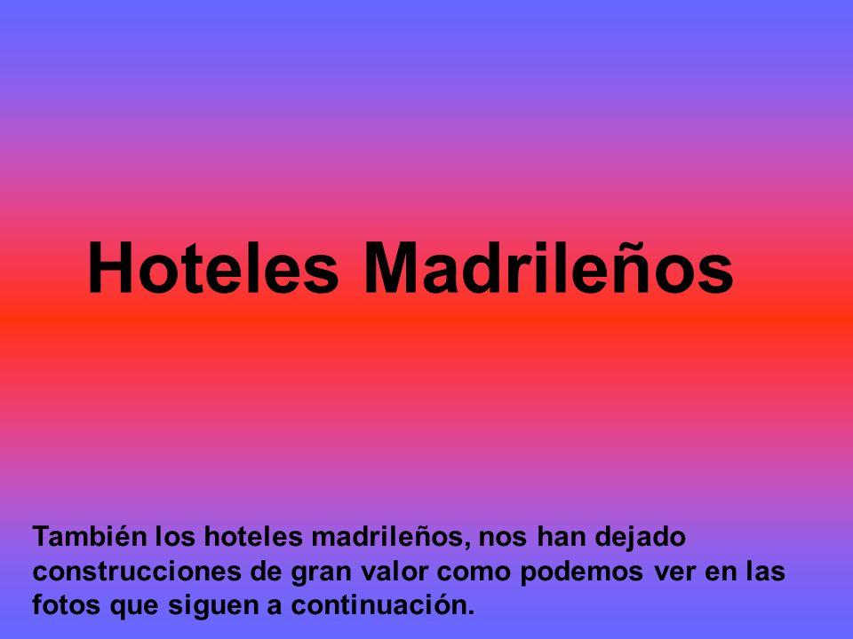 Hoteles Madrileños