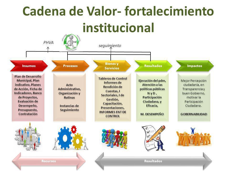 Cadena de Valor- fortalecimiento institucional