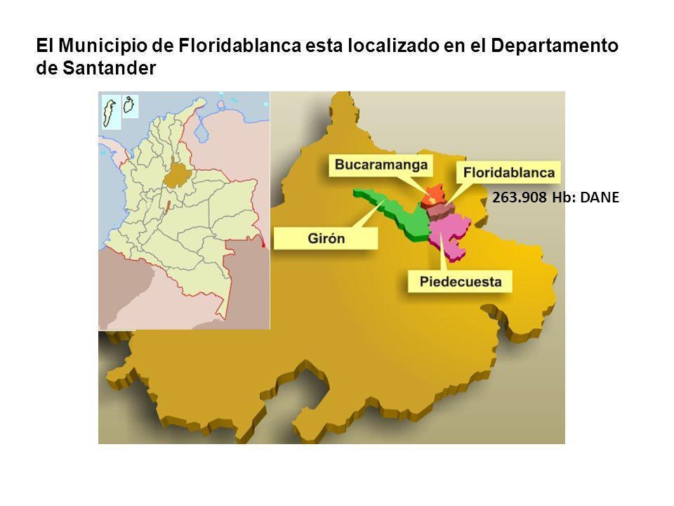 El Municipio de Floridablanca esta localizado en el Departamento de Santander