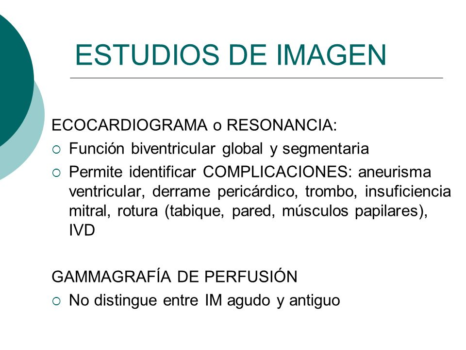 ESTUDIOS DE IMAGEN ECOCARDIOGRAMA o RESONANCIA: