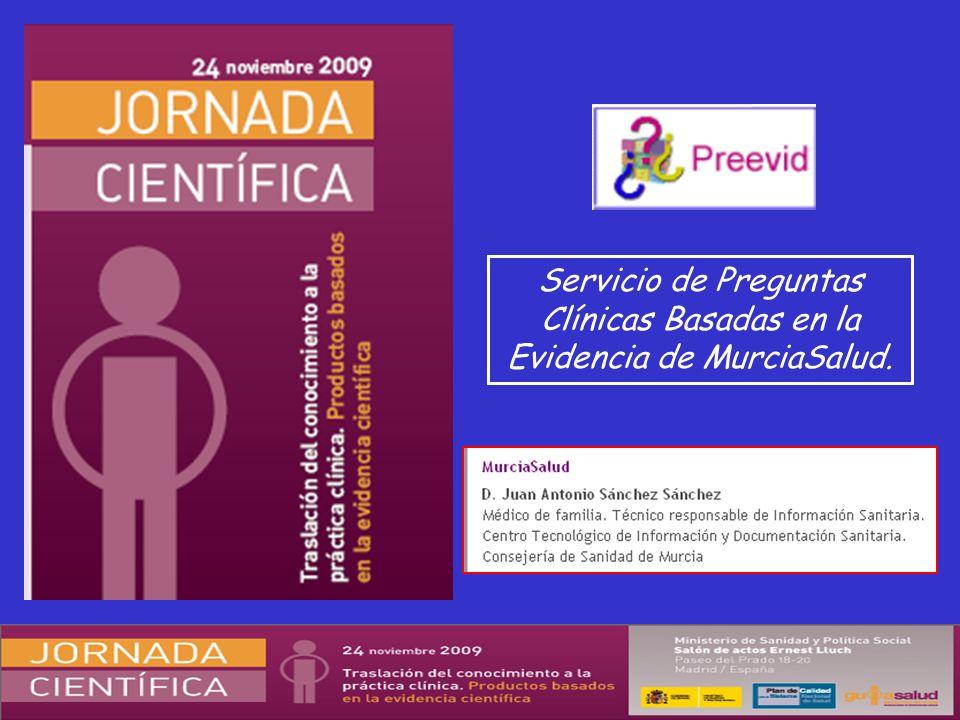 Servicio de Preguntas Clínicas Basadas en la Evidencia de MurciaSalud.