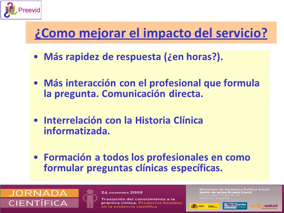 ¿Como mejorar el impacto del servicio