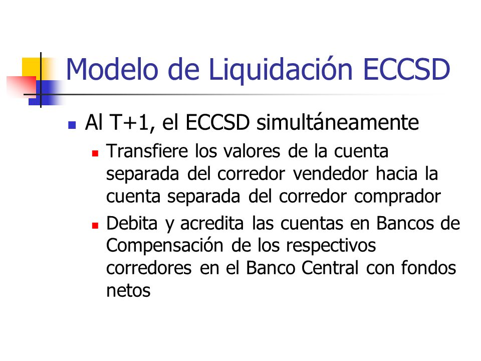 Modelo de Liquidación ECCSD