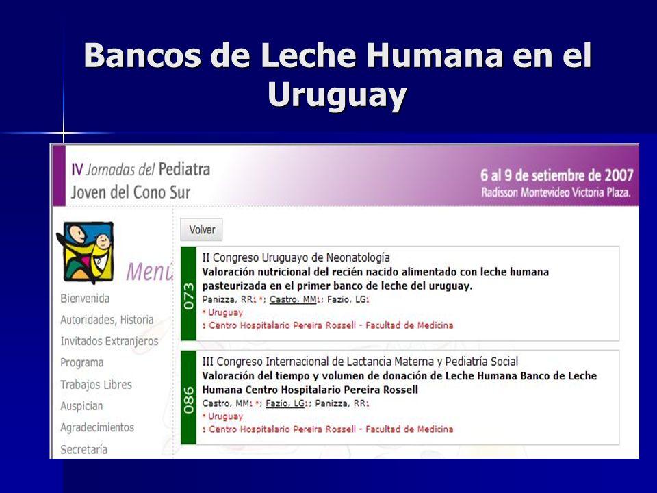 Bancos de Leche Humana en el Uruguay