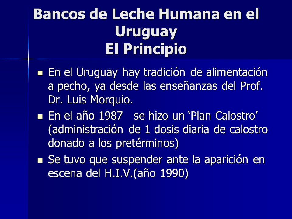 Bancos de Leche Humana en el Uruguay El Principio