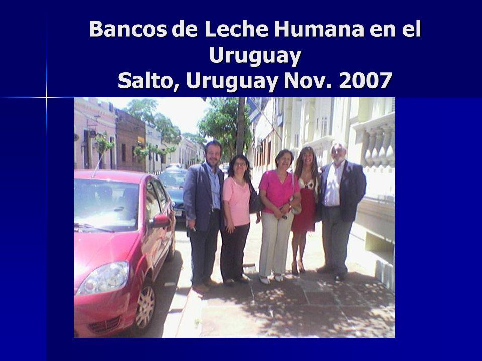 Bancos de Leche Humana en el Uruguay Salto, Uruguay Nov. 2007