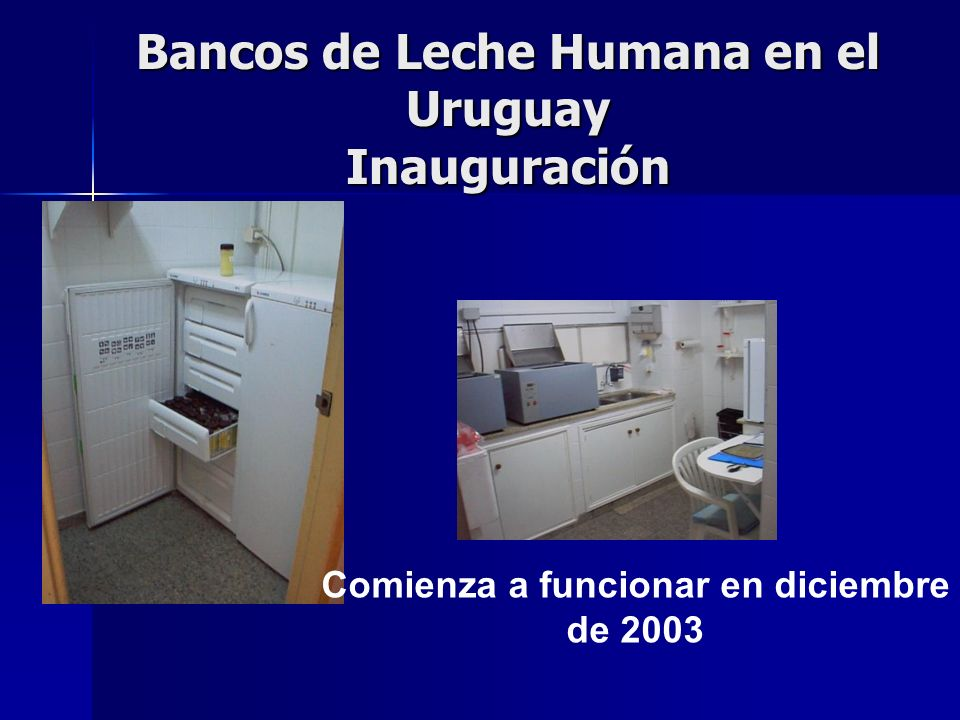 Bancos de Leche Humana en el Uruguay Inauguración