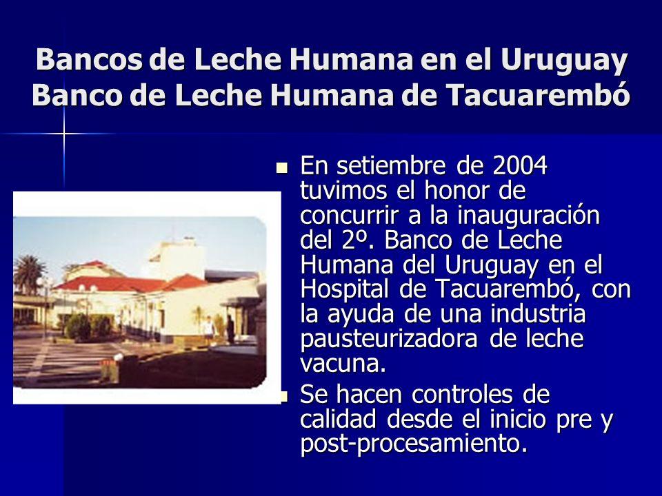 Bancos de Leche Humana en el Uruguay Banco de Leche Humana de Tacuarembó