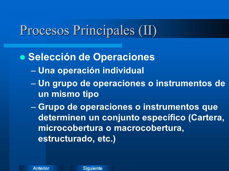 Procesos Principales (II)