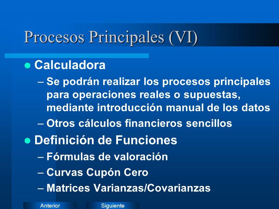 Procesos Principales (VI)