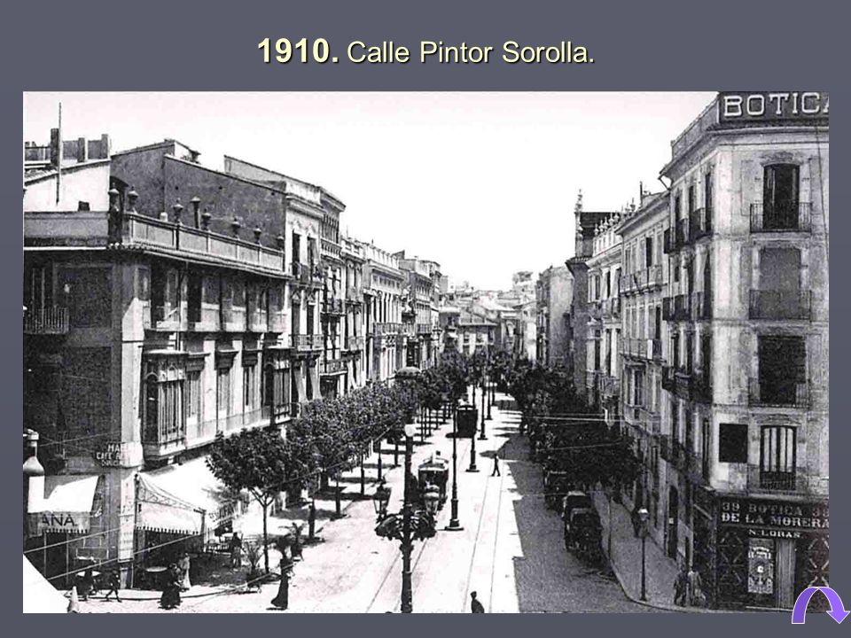 1910. Calle Pintor Sorolla.
